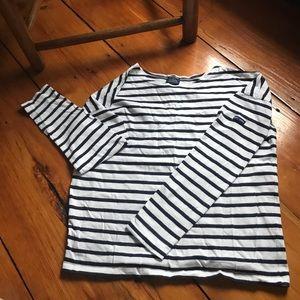 Saint James for J.Crew striped long sleeve shirt
